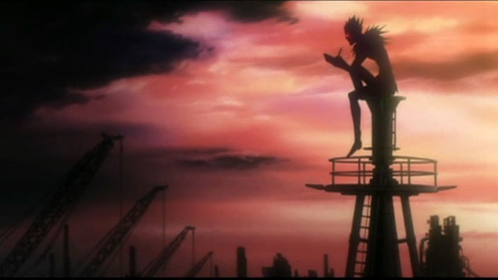 Ryuk takes notes while overseeing construction